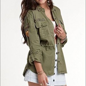 Kendall+Kylie Pacsun Green Military Jacket